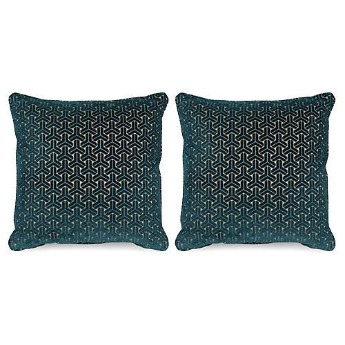 S/2 Varro 20x20 Pillows, Teal