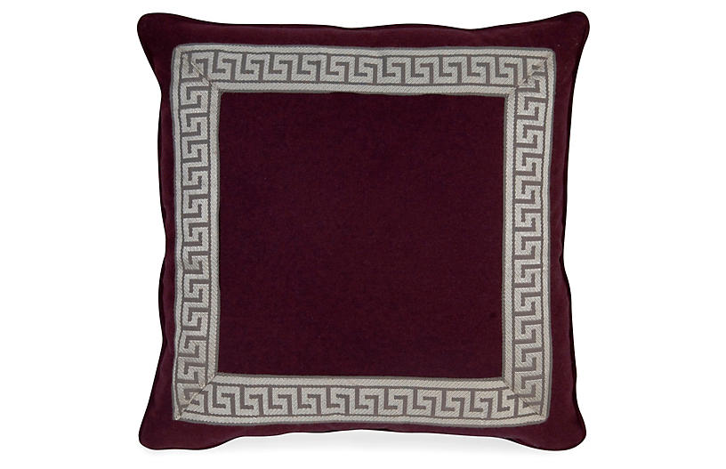 Remix Canne 20x20 Pillow - Purple - Miles Talbott