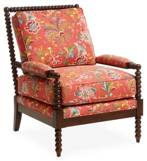 Bankwood Spindle Chair - Accent Chairs - Chairs - Living Room - Furniture | One Kings Lane  sc 1 st  One Kings Lane & Bankwood Spindle Chair - Accent Chairs - Chairs - Living Room ...
