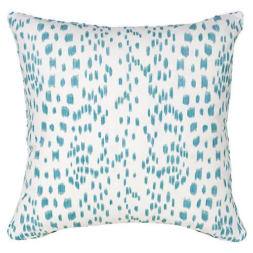 Spots 19.5x19.5 Pillow, Aqua