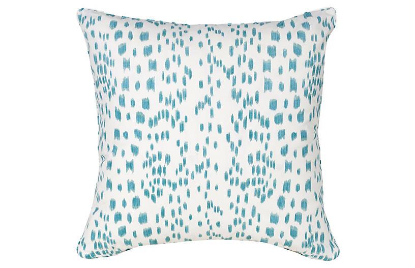 Spots 20x20 Pillow, Aqua
