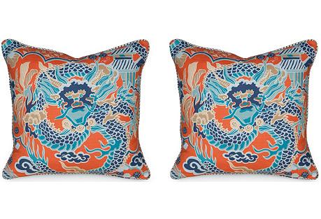 S/2 Imperial Dragon 19.5x19.5 Pillows