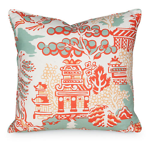 Luzon 19.5x19.5 Pillow, Aqua