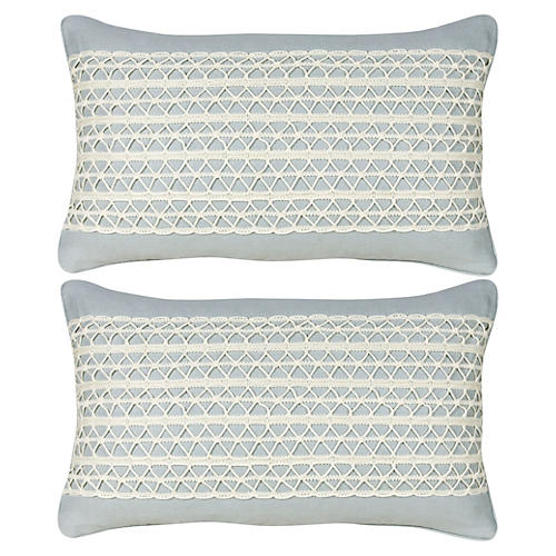 S/2 Glynn 12x20 Pillows, Blue