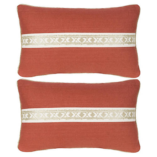S/2 Beaujolais Pillow 12x20 Pillows