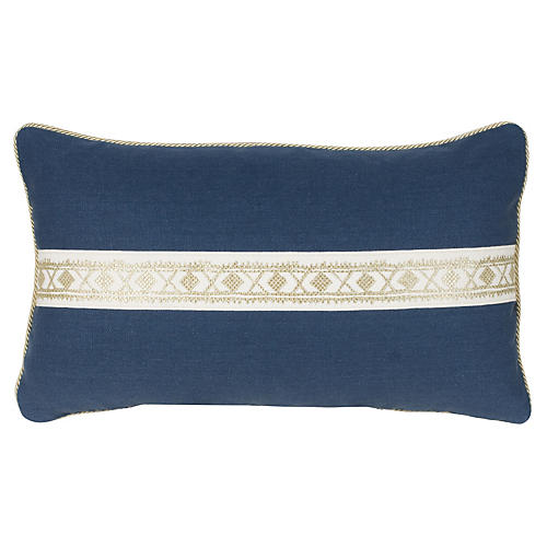 Glynn 12x20 Pillow, Indigo