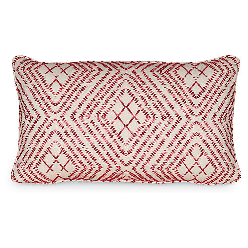 Bengal 12x20 Pillow, Vermilion