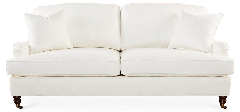Bradley 83 Sofa Ivory Crypton Sofas Settees Living Room Furniture One Kings Lane