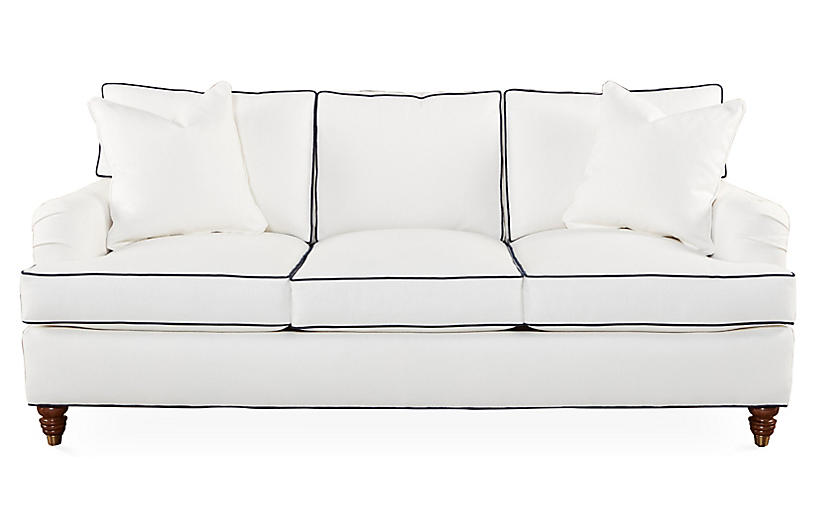 Kate Sleeper Sofa, White Crypton