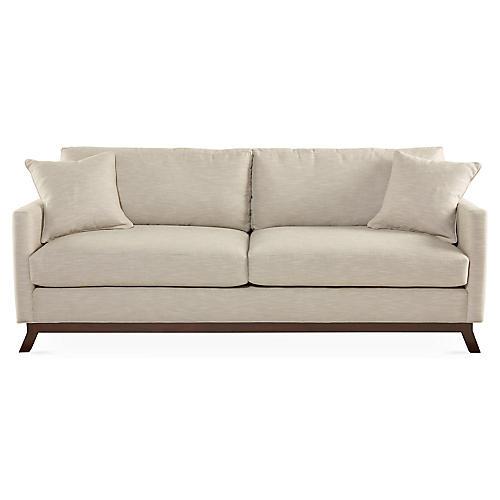 """Edwards 84"""" Sofa, Beige"""