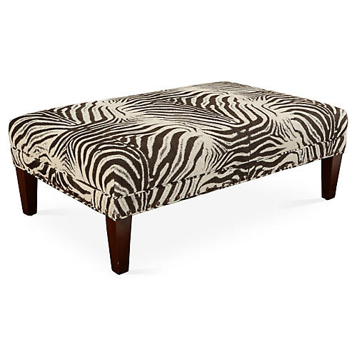 Cotswold Cocktail Ottoman, Brown