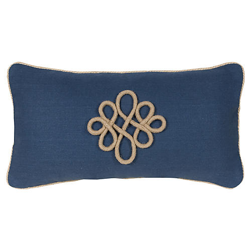 Glynn 12x23 Pillow, Indigo