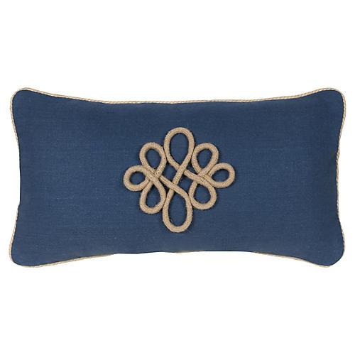 Glynn 12x23 Lumbar Pillow, Indigo