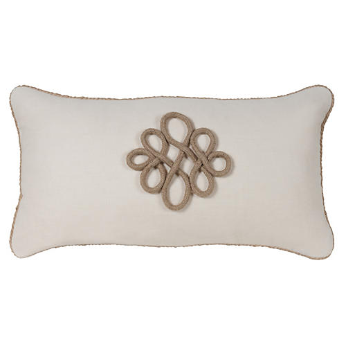 Glynn 12x23 Pillow, Antiqued White