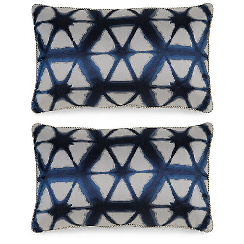 Entangle Pillows, Indigo