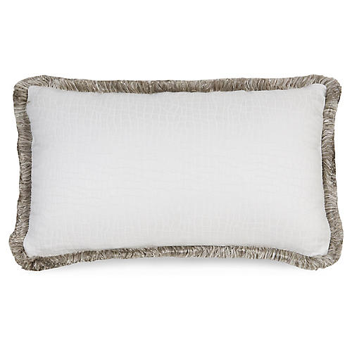 F. Blanco 12x20 Pillow, Wht/Gray