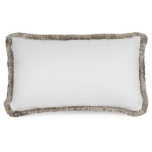 F. Blanco 12x20 Pillow, Wht/Gray