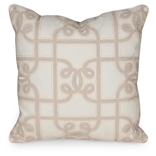 C. Gate 19.5x19.5 Pillow, Linen