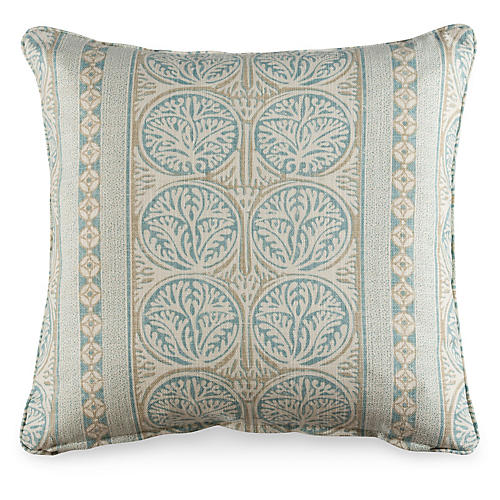 Fair Isle 19.5x19.5 Pillow, Aqua