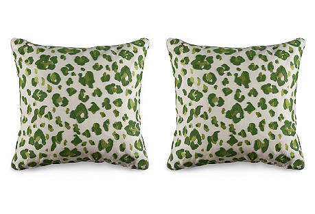 S/2 Tonga 19.5x19.5 Pillows, Green