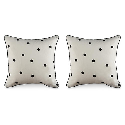 S/2 Scatter 19.5x19.5 Pillows, Blk/White