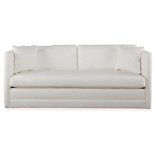 "Landry 63"" Sofa, White"