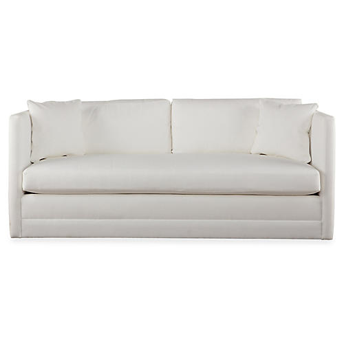 Landry Sofa, White Crypton