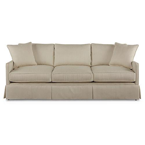 """Auburn 84"""" Sofa, Parchment"""