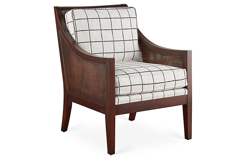 Windwood Accent Chair - Black/White - Miles Talbott
