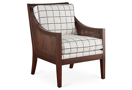 Windwood Accent Chair, Black/White