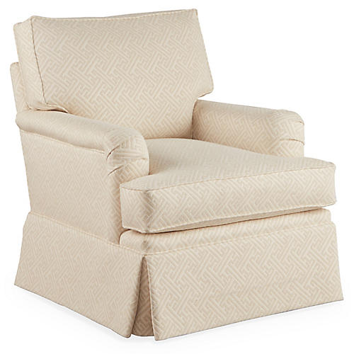 Winston Swivel Club Chair, Natural