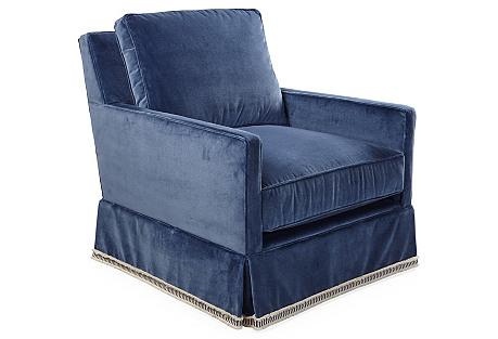 Auburn Swivel Chair, Mariner