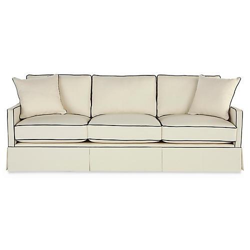 "Auburn 84"" Sofa, Cream Crypton"