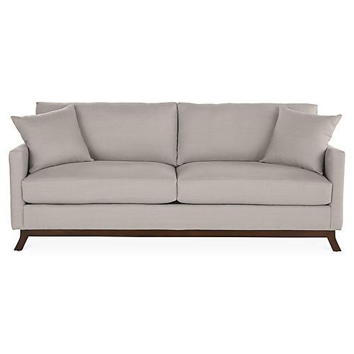 "Edwards 84"" Sofa, Gray Linen"