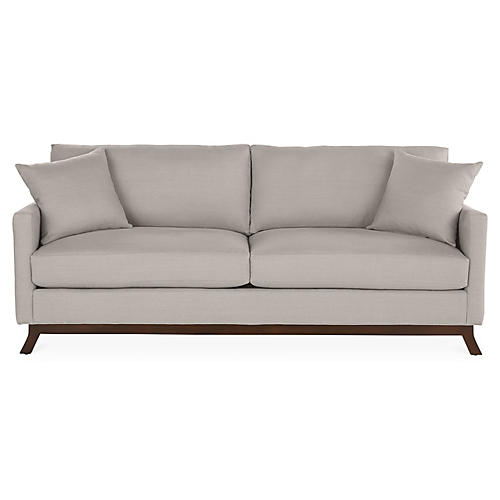Edwards Sofa, Gray Linen