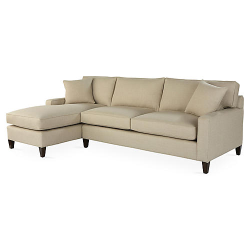 liza leftfacing sleeper sand crypton - Crypton Sofa