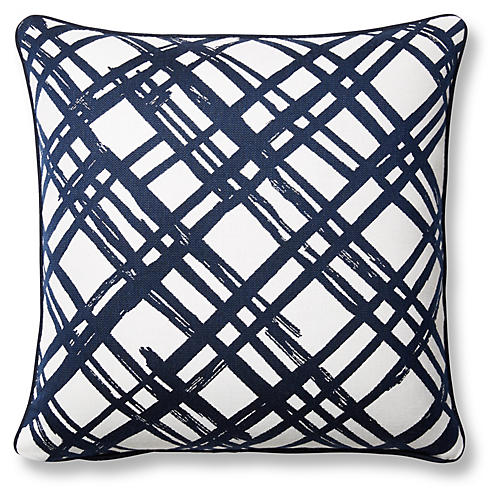 Slash 20x20 Pillow, Indigo Sunbrella