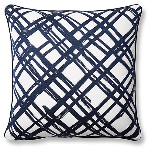 Slash 20x20 Pillow, Indigo Sunbrella