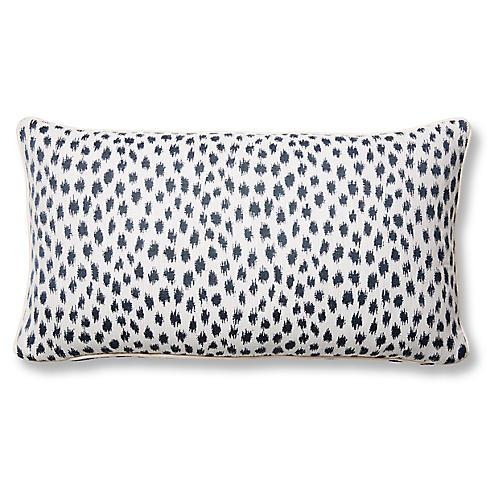 Agra 12x23 Lumbar Pillow, Indigo/White Sunbrella