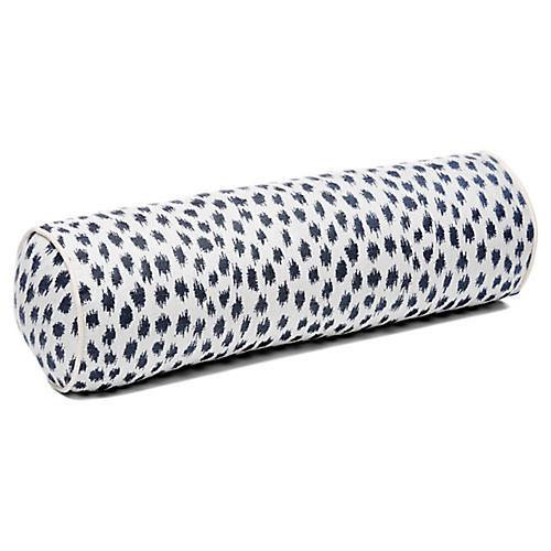 Agra 7x21 Bolster Pillow, Indigo/White Sunbrella