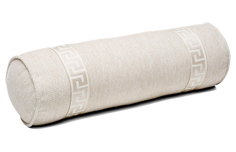 Tailor 7x21 Bolster Pillow, Natural Sunbrella