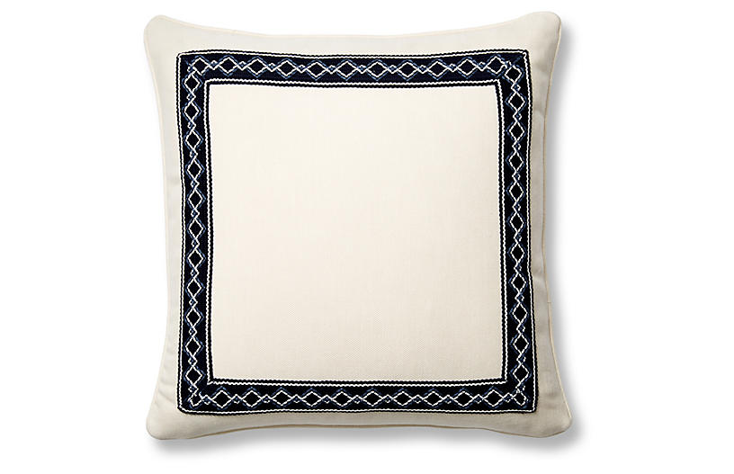 Sail 20x20 Pillow, Indigo Sunbrella