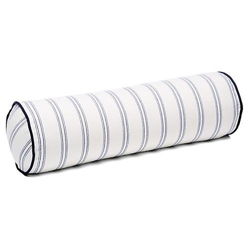 Espadrille 7x21 Bolster Pillow, Blue Sunbrella