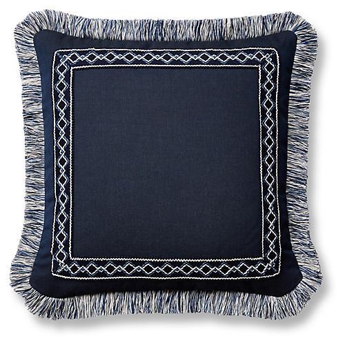 Meridia 20x20 Pillow, Indigo Sunbrella