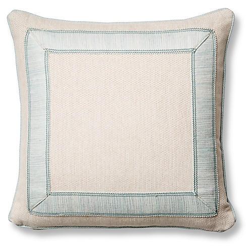 Tailor 20x20 Pillow, Blue Sunbrella