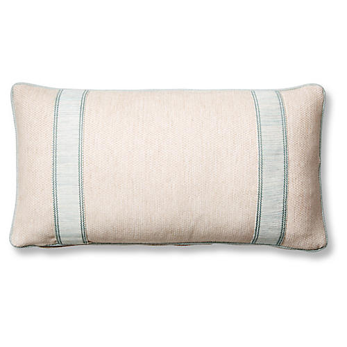Tailor 12x23 Lumbar Pillow, Blue Sunbrella