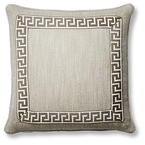 Pebbles 20x20 Pillow, Gray Sunbrella