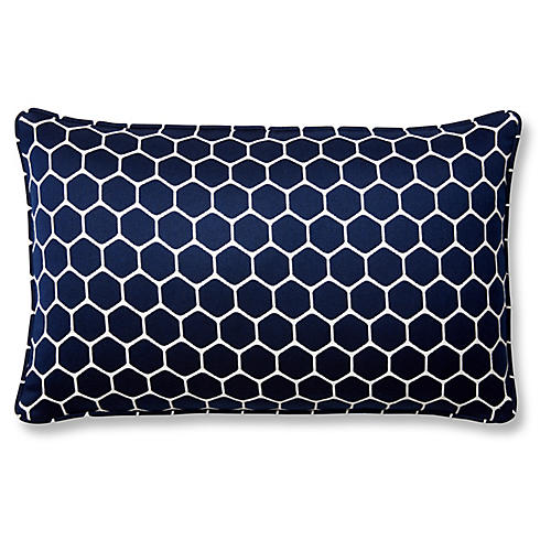 Wired 12x20 Lumbar Pillow, Indigo Sunbrella