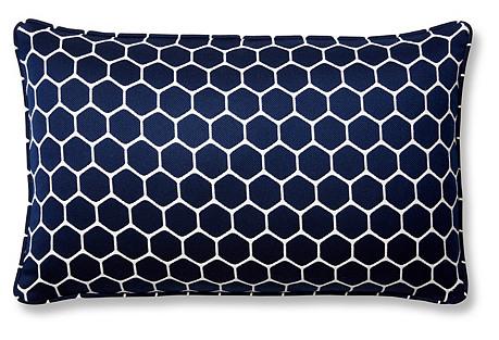Wired 12x20 Sunbrella Lumbar Pillow, Indigo