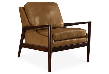 Ebonwood Chair, Caramel Leather